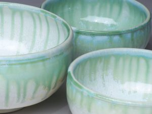 Green Drip Bowls